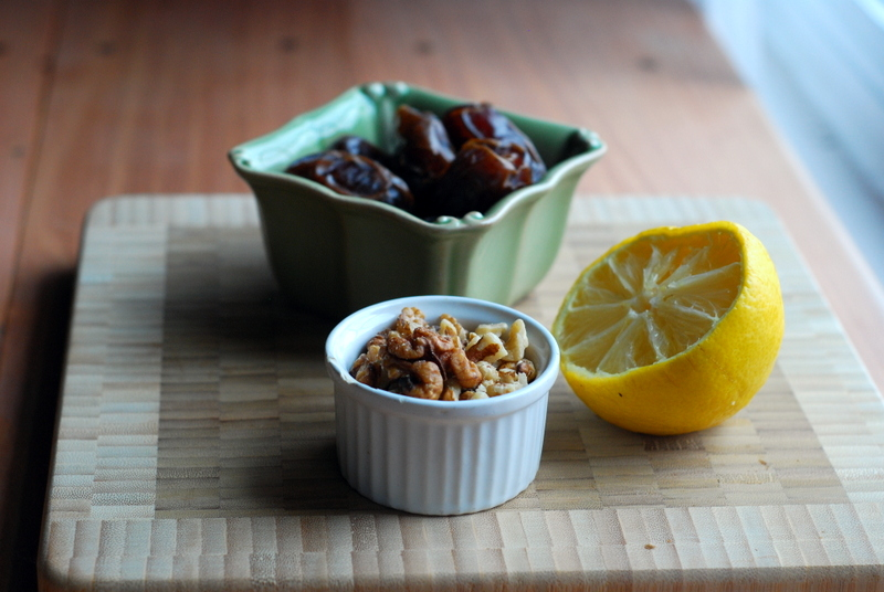 walnuts dates lemon