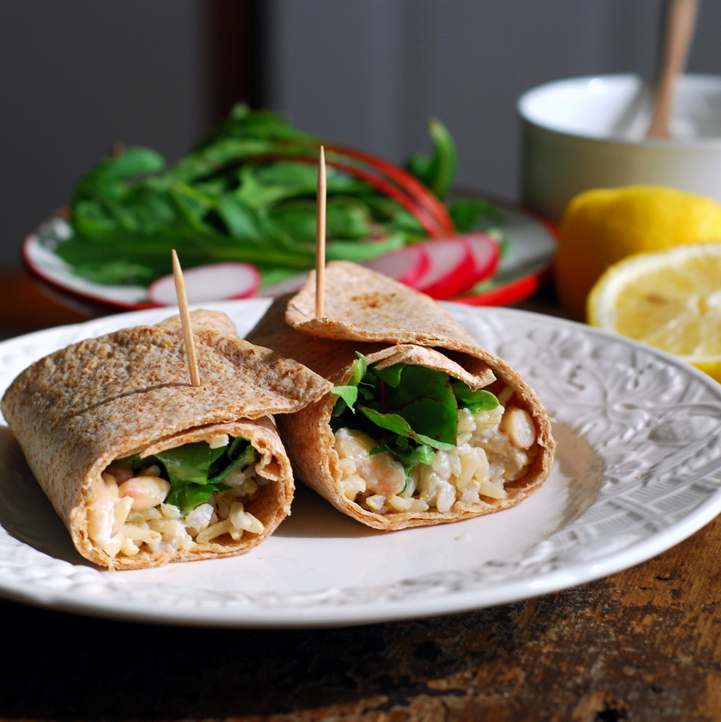 white bean wrap in morning